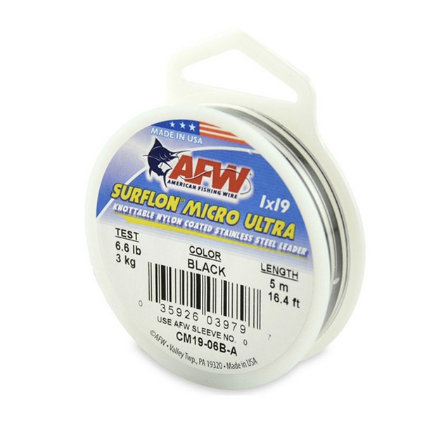 AFW SurflonMicroUltra, Nylon Coated 1x19 Stainless Leader