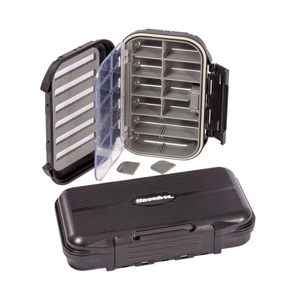 Snowbee Кутия Slit-Foam/Compartment Waterproof Fly Box