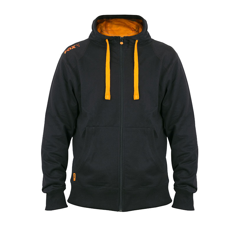 Суитчър FOX Black Orange LW Zipped hoodie