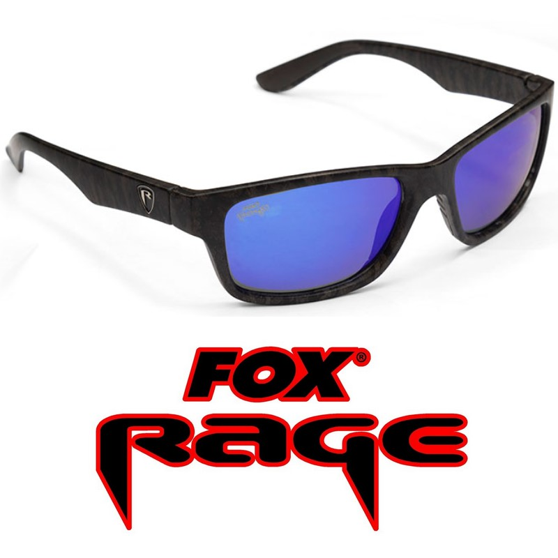 Очила Fox Rage Camo Frame Grey Lens Mirror Blue